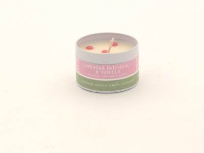 Dotty Candle Small - Lavender Patchoulli --- Vanilla